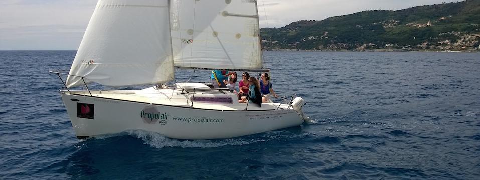 week end prova la vela: barca a vela nel golfo di Andora
